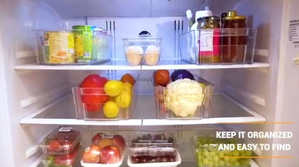 """These will not only help you keep your fridge in an orderly fashion, but will also catch any leaks and drips that seem to always make their way to the bottom.<br /><br /><strong>Promising review:</strong>""""These are so helpful if your fridge is cluttered. I bought these for my mom who is an extremely cluttered person. I love her to death, but she is not an organized person. Her fridge used to look wild. There would be food piled on top of food, and small jars and containers EVERYWHERE. I bought her these to help her organize everything. Now she can see what she has and everything has a place.<strong>Thank you for making something like this to help those that are so cluttered.</strong>"""" —<a href=""""https://www.amazon.com/dp/B07TVTSHHJ?tag=huffpost-bfsyndication-20&ascsubtag=5834502%2C20%2C46%2Cd%2C0%2C0%2C0%2C962%3A1%3B901%3A2%3B900%3A2%3B974%3A3%3B975%3A2%3B982%3A2%2C16267159%2C0"""" target=""""_blank"""" rel=""""noopener noreferrer"""">MioRioZio</a><br /><br /><strong>Get it from Amazon for<a href=""""https://www.amazon.com/dp/B07TVTSHHJ?tag=huffpost-bfsyndication-20&ascsubtag=5834502%2C20%2C46%2Cd%2C0%2C0%2C0%2C962%3A1%3B901%3A2%3B900%3A2%3B974%3A3%3B975%3A2%3B982%3A2%2C16267159%2C0"""" target=""""_blank"""" rel=""""noopener noreferrer"""">$26.99</a>.</strong>"""