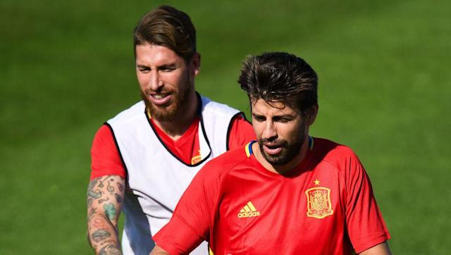 Sergio Ramos has insisted that his rivalry with Barcelona defender Gerard Pique does not extend to international duty with Spain. The duo have been involved in some heated El Clasico clashes in the past, and are heading towards the conclusion of the ongoing La Liga title race. But Ramos claims that there is no animosity, and that club rivalry will be put aside for Spain's World Cup qualifiers. Ramos: I will hug Piqué because we throw stones without malice https://t.co/QEbmbVljdC...