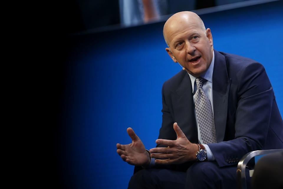 David Solomon, co-president and co-chief operating officer of Goldman Sachs & Co., speaks during the Milken Institute Global Conference in Beverly Hills, California, U.S., on Monday, May 1, 2017. The conference is a unique setting that convenes individuals with the capital, power and influence to move the world forward meet face-to-face with those whose expertise and creativity are reinventing industry, philanthropy and media. Photographer: Patrick T. Fallon/Bloomberg via Getty Images