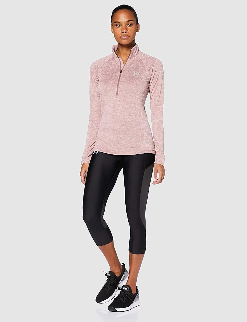 <p>Get this <span>Under Armour Tech Twist Zip Long Sleeve Pullover</span> ($29-$72) in your favorite color.</p>