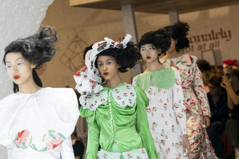 London Fashion Week got under way on Friday, launching spring/summer 2020 collections under a Brexit cloud and in the face of opposition from environmental activists (AFP Photo/Niklas HALLE'N)