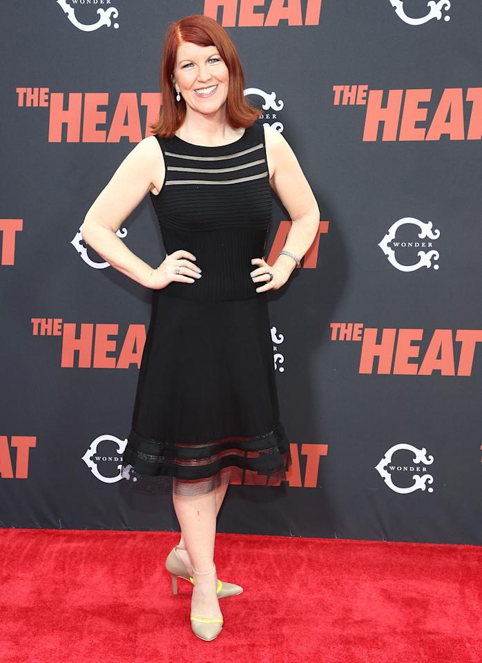 "NEW YORK, NY - JUNE 23: Kate Flannery   attends ""The Heat"" New York Premiere at Ziegfeld Theatre on June 23, 2013 in New York City. (Photo by Astrid Stawiarz/Getty Images)"