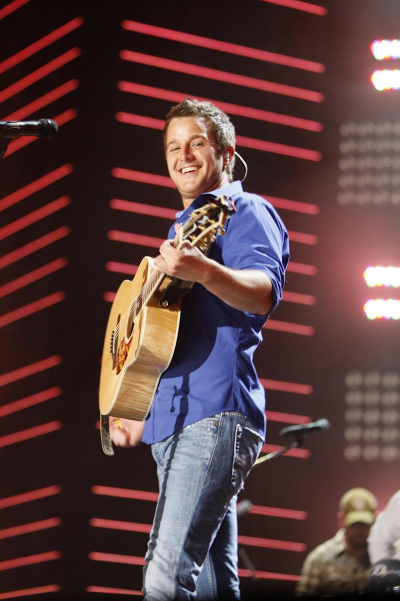 FILE - In this June 12, 2010 file photo, Easton Corbin performs during the CMA Music Festival in Nashville, Tenn. (AP Photo/Wade Payne, file)