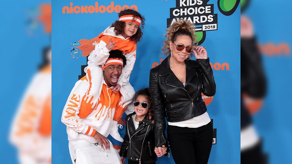 Mandatory Credit: Photo by Imagespace/Shutterstock (9475709n)Mariah Carey, Nick Cannon, Moroccan Cannon, Monroe CannonNickelodeon Kids' Choice Awards, Arrivals, Los Angeles, USA - 24 Mar 2018.