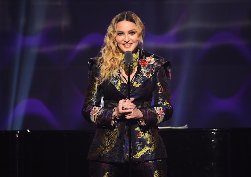 Madonna gave a rousing speech at the Billboard Women in Music event in 2016 [Photo: Getty]