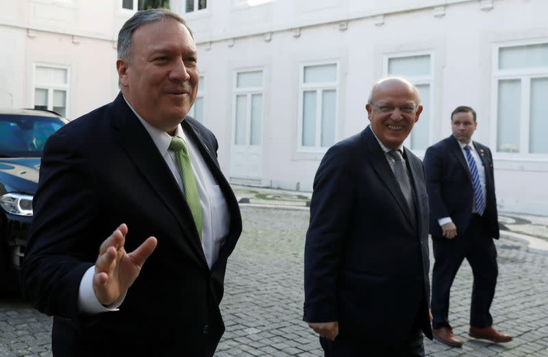 FILE PHOTO: U.S. Secretary of State Pompeo meets with Portugal's FM Santos Silva in Lisbon