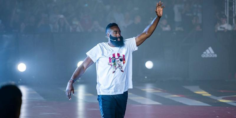 Rockets' James Harden Says He's 'Good' With Chris Paul