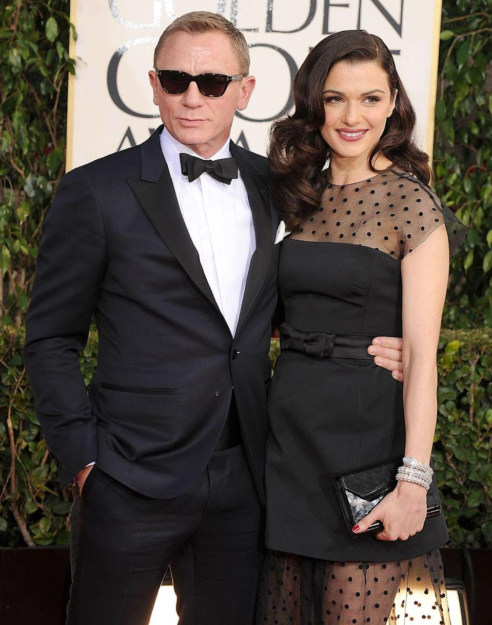 """<p><strong>How long they've been together: </strong>They wed in a secret ceremony in June 2011 with only four guests in attendance. In September 2018, Weisz gave birth to their first child. <br></p><p><strong>Why you forget they're together:</strong> They're too famous to talk about. No, really. Weisz told <a href=""""http://www.eonline.com/news/717030/rachel-weisz-on-keeping-her-marriage-to-daniel-craig-private-he-s-just-too-famous"""" rel=""""nofollow noopener"""" target=""""_blank"""" data-ylk=""""slk:More magazine"""" class=""""link rapid-noclick-resp""""><em>More</em> magazine</a> in their December/January 2015 issue, """"He's just too famous. It would be a betrayal"""" to talk about her marriage to Daniel Craig.<br></p>"""