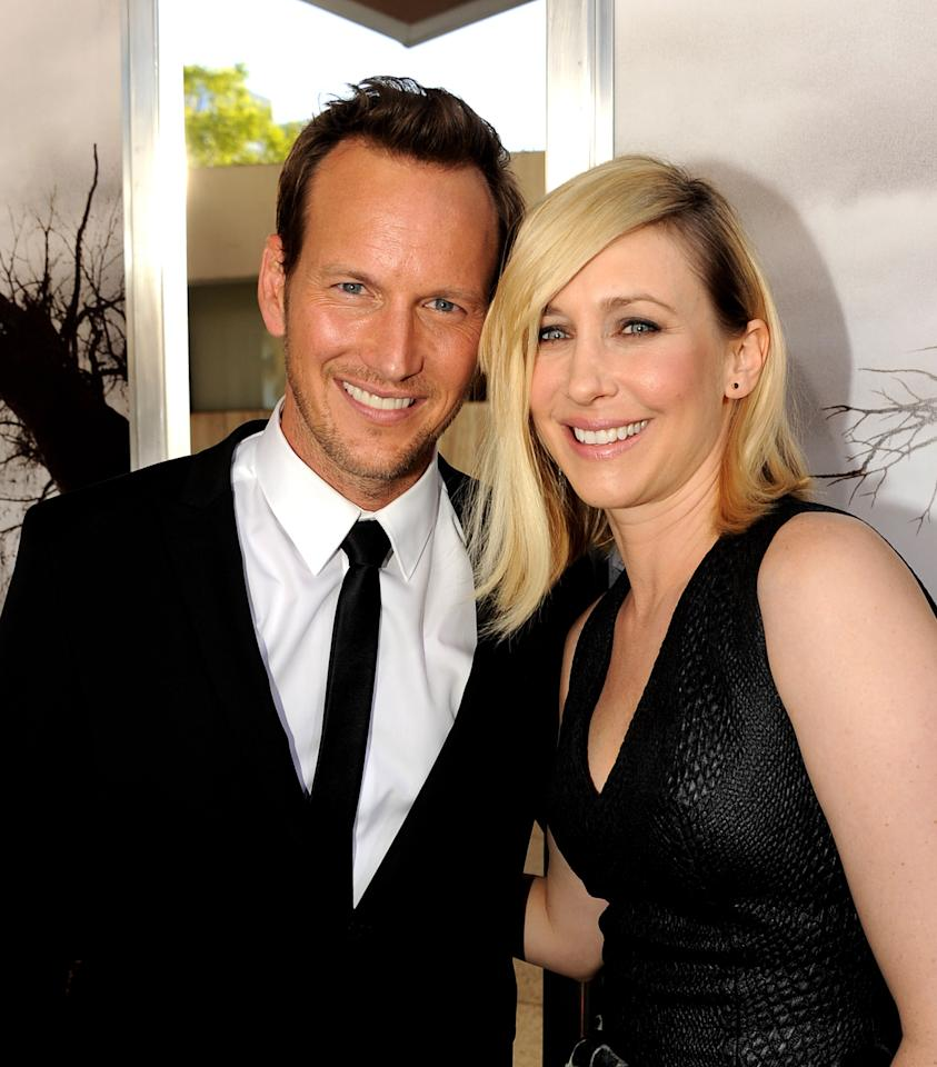 "LOS ANGELES, CA - JULY 15: Actors Patrick Wilson (L) and Vera Farmiga arrive at the premiere of Warner Bros. ""The Conjuring"" at the Cinerama Dome on July 15, 2013 in Los Angeles, California. (Photo by Kevin Winter/Getty Images)"