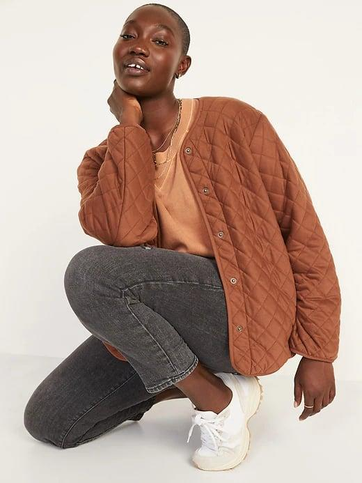 <p>It's hard to resist this <span>Old Navy Quilted Jacket</span> ($60) in a perfect pumpkin-space shade for fall.</p>