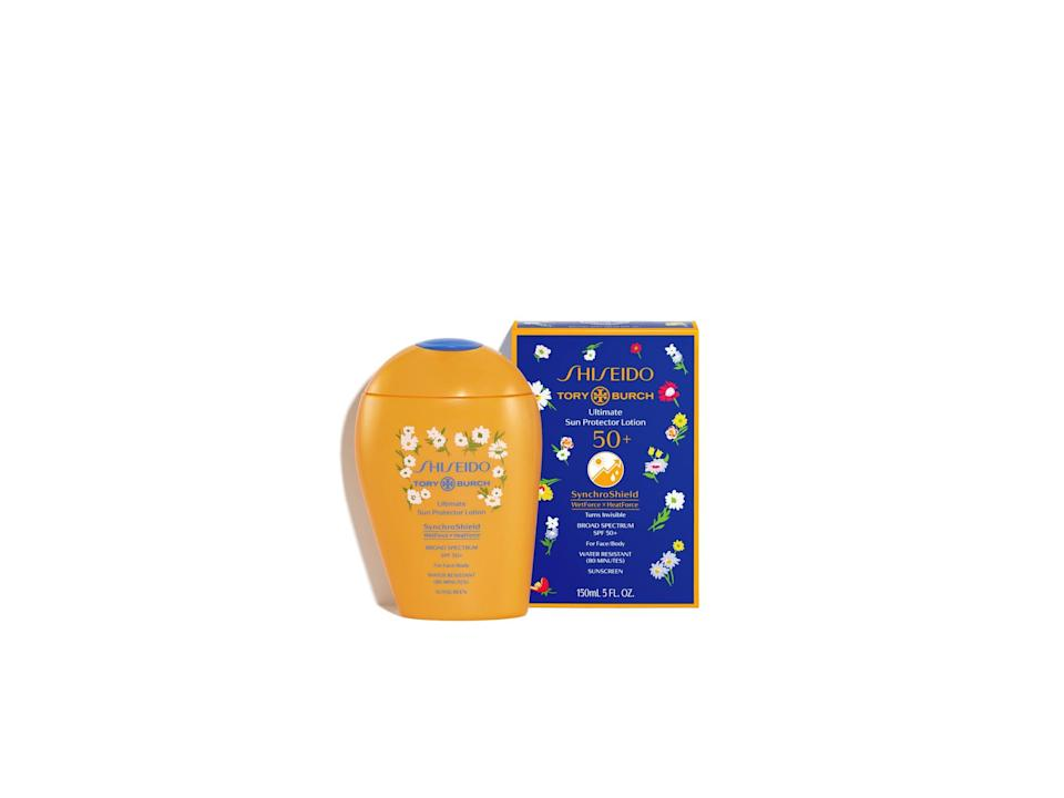 <p>Everybody's favorite sunscreen formula just got the chicest upgrade. The limited-edition <span>Tory Burch x Shiseido Ultimate Sun Protector Lotion 50+</span> ($49) ensures you get the best protection from UVA/UVB rays - while looking pretty damn cute in your beach bag.</p>