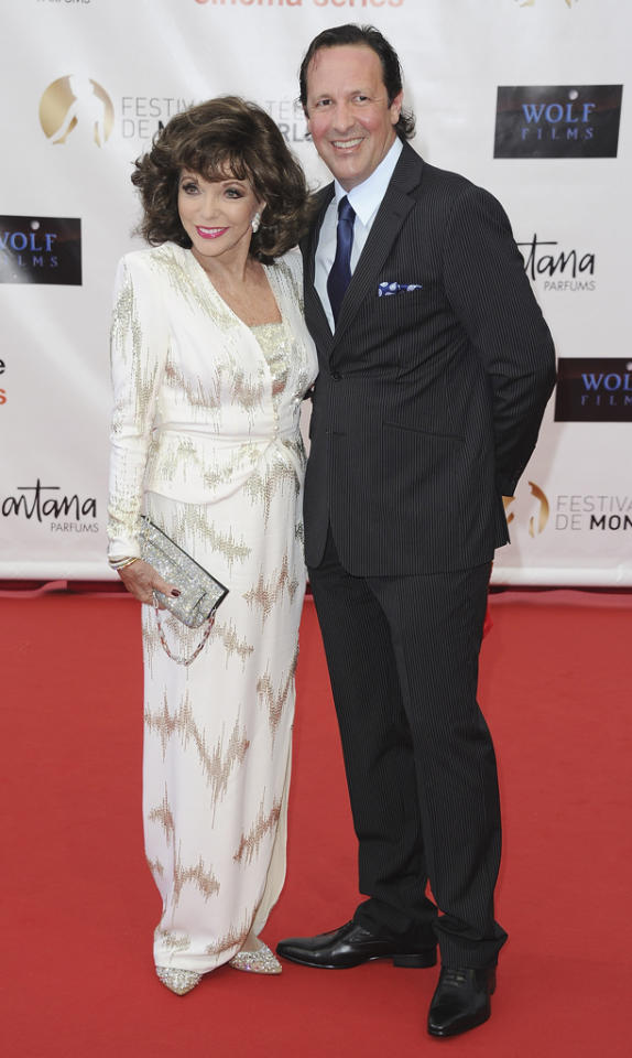 "Is the fifth time a charm for Joan Collins when it comes to marriage? The 79-year-old former ""Dynasty"" star's current hubby, Percy Gibson, sure hopes so! Collins and Gibson, who's approximately 30 years younger than his bride, have already managed to make their marriage last for more than 10 years. Still, Gibson has acknowledged that the age gap has caused controversy between the two, according to the <a target=""_blank"" href=""http://www.mirror.co.uk/3am/celebrity-news/dick-van-dyke-marries-a-40-year-old-757820"">U.K.'s Mirror</a>. ""I'm not going to be so naive as to pretend we didn't spend a lot of time discussing that very issue,"" he said. ""But it's a damn shame for two people so happy together to make the difference in age the reason for not being together."" (6/10/2012)"