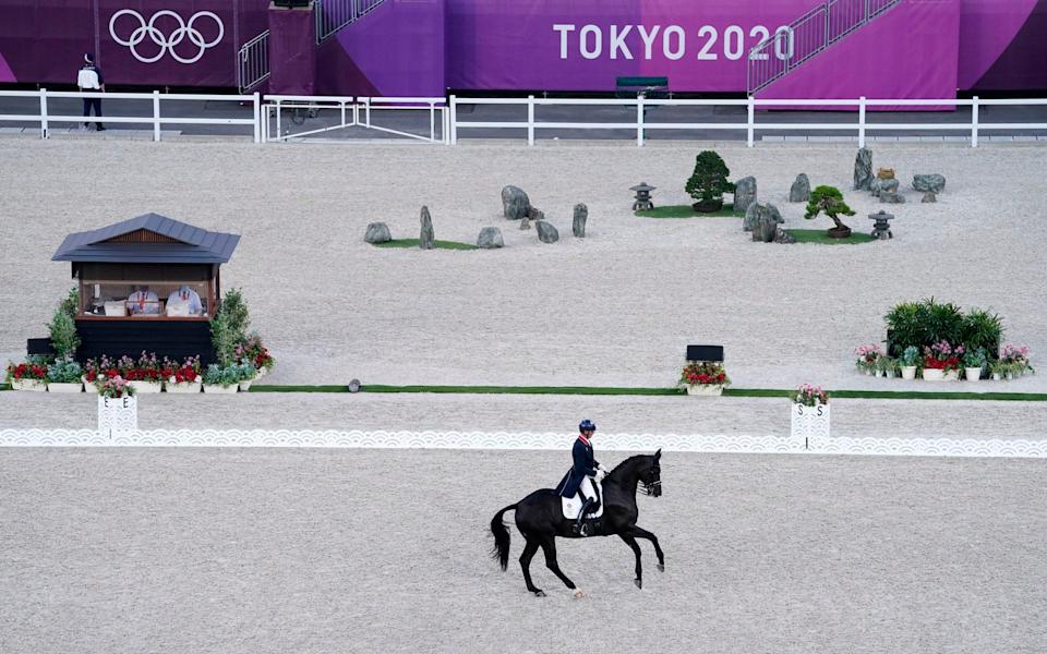 Great Britain's Carl Hester on En Vogue during the Grand Prix Freestyle - Individual Final at the Equestrian Park on the fifth day of the Tokyo 2020 Olympic Games - Danny Lawson/PA