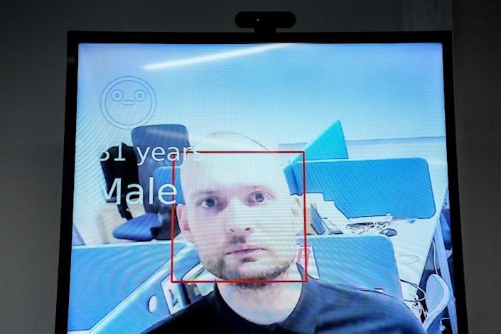 Facial recognition technology was first tested during the 2018 World Cup in Russia before going fully online in January (AFP Photo/Kirill KUDRYAVTSEV)