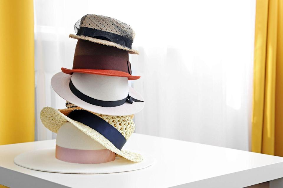 <p>While that netted fascinator from the '50s may look cool, hats are considered a high-risk purchase at thrift stores. These item can sometimes lead to the spread of lice or other bacterias. </p>