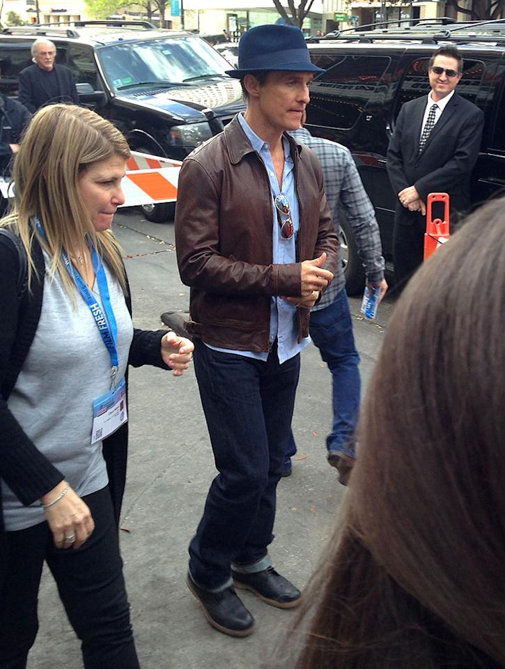 Matthew McConaughey arrives to the premiere! #sxsw #mud