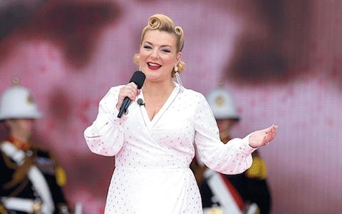 Sheridan performing to mark the D-Day anniversary in Portsmouth this month - Credit: getty images
