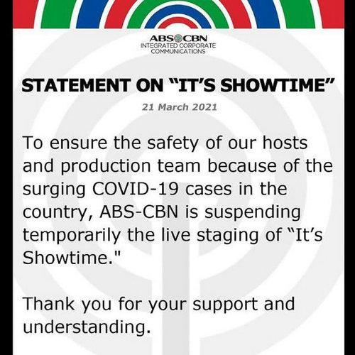 The statement by ABS-CBN