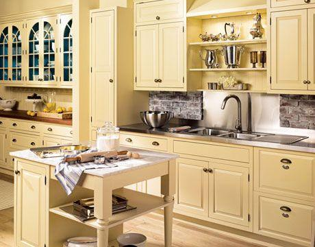 <p>Kitchens have all but abandoned color, with the exception of beige. This timeless shade was a popular choice for cabinets, making open kitchens seem brighter yet more inviting. </p>