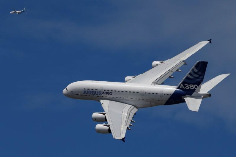Airbus A380 at Paris Air Show at Le Bourget Airport near Paris
