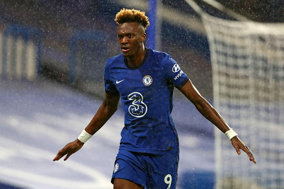 <p>Tammy Abraham scored twice against West Ham earlier this season</p> (POOL/AFP via Getty Images)