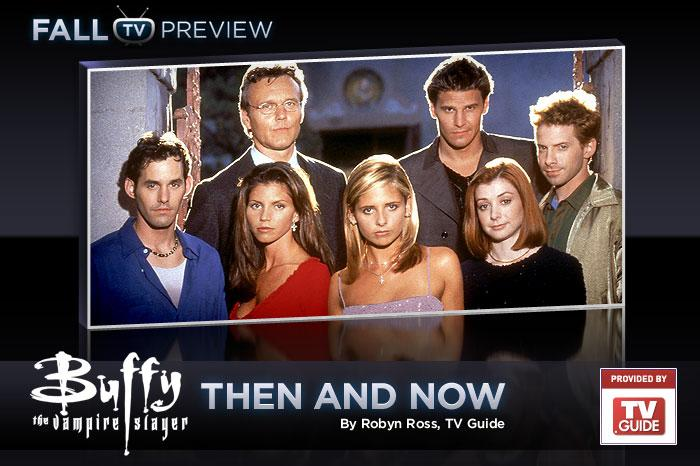 """<a href=""/buffy-the-vampire-slayer/show/29309"">Buffy the Vampire Slayer</a>"" may have ended nearly a decade ago, but just pick up your remote and you'll still see many of the show's familiar faces on-screen today. With star Sarah Michelle Gellar marking her return to series television with the upcoming CW thriller ""<a href=""/ringer/show/47458"">Ringer</a>,"" we decided to take a look back at ""Buffy's"" notable players, then and now. — <a href=""http://www.tvguide.com/News/Buffy-Vampire-Slayer-1037093.aspx"" target=""_blank"" rel=""nofollow"">TV Guide</a>"