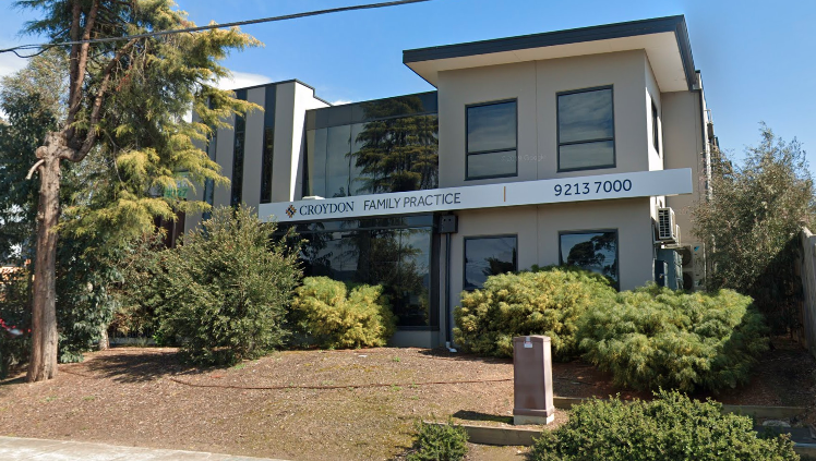 A new case has been linked to Croydon Family Practice. Source: Google Maps