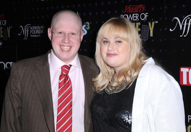 Actor Matt Lucas and comic Rebel Wilson arrive at Variety's 1st annual Power Of Comedy event at Club Nokia on December 4, 2010 in Los Angeles, California. (Photo by Barry King/FilmMagic)