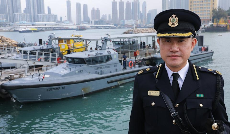 Chan Tsz-tat said his department's officers had often struggled against smugglers' nimble speedboats. Photo: Dickson Lee