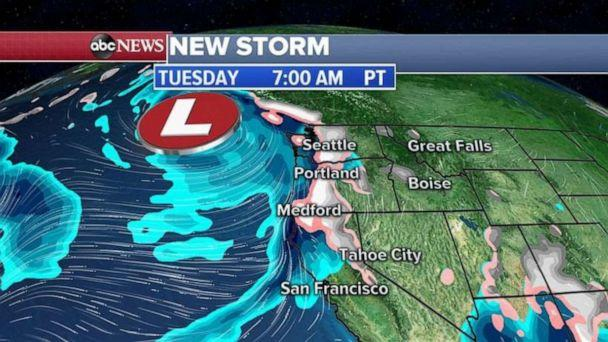 PHOTO: A Winter Storm Warning has been issued for northern California and Washington where one to two feet of snow is possible in the mountains. (ABC News)