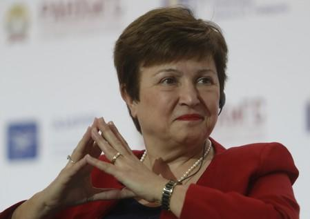 """FILE PHOTO: World Bank CEO Kristalina Georgieva attends a session of the Gaidar Forum 2018 """"Russia and the World: values and virtues"""" in Moscow"""