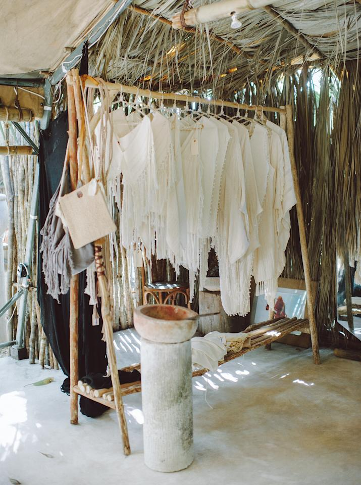 """<p>In the mood to shop? Check out the local boutiques and hotel shops that run along the beach road. Pop into <a rel=""""nofollow"""" href=""""http://josatulum.com?mbid=synd_yahootravel"""">Josa Tulum</a> for patterned caftans. <a rel=""""nofollow"""" href=""""http://latroupe.com.mx/ltrp?mbid=synd_yahootravel"""">La Troupe</a> offers a wealth of locally made knits and leather goods. You'll find one-of-a-kind accessories galore at <a rel=""""nofollow"""" href=""""http://www.km33tulum.com?mbid=synd_yahootravel"""">KM33</a>. And if you're looking for authentic Mexican crafts and artwork to decorate your abode, Mixik is a must.</p>"""