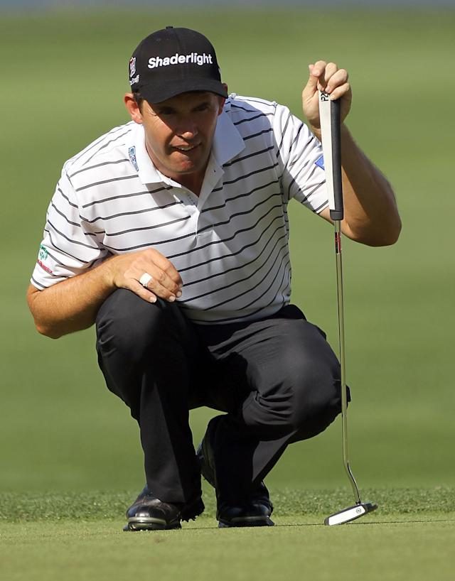 PALM HARBOR, FL - MARCH 16: Padraig Harrington of Ireland looks over a shot on the 3rd hole during the second round of the Transitions Championship at Innisbrook Resort and Golf Club on March 16, 2012 in Palm Harbor, Florida. (Photo by Sam Greenwood/Getty Images)