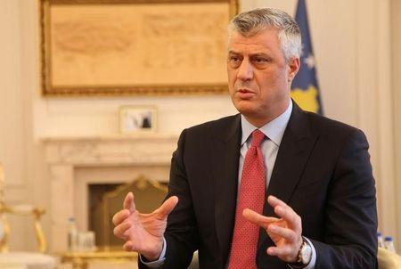 Kosovo's President Hashim Thaci gives an interview for REUTERS in his office in Kosovo's capital Pristina