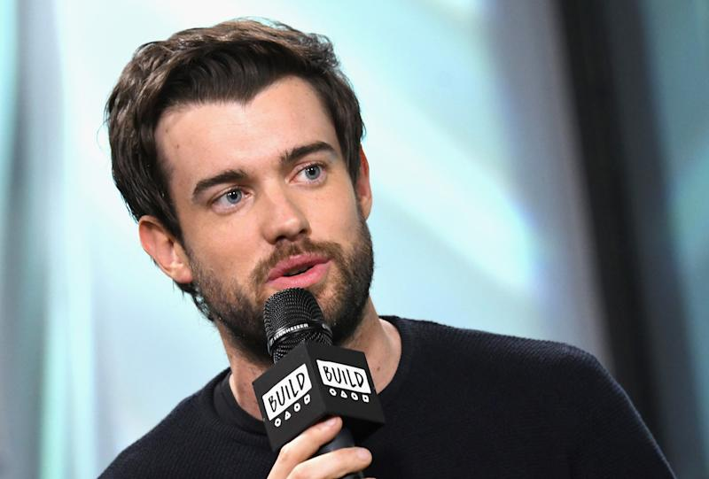 """NEW YORK, NY - SEPTEMBER 29: Actor and comedian Jack Whitehall visits the Build Series to discuss the series """"Jack Whitehall: Travels with My Father"""" at Build Studio on September 29, 2017 in New York City. (Photo by Gary Gershoff/WireImage)"""