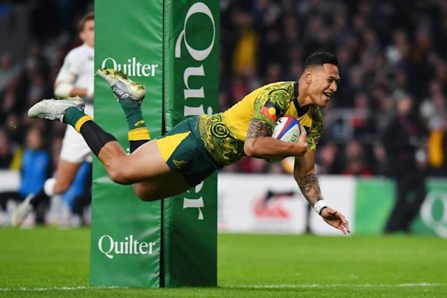 Despite the settlement, Folau's playing future is uncertain (AFP Photo/Ben STANSALL)