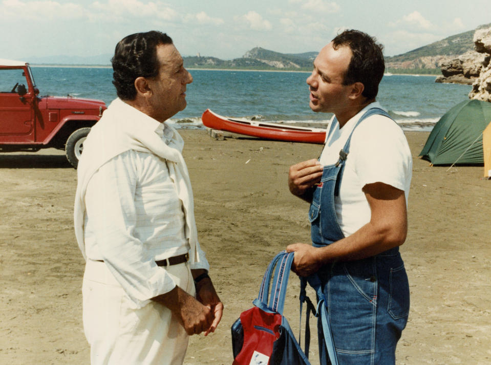"Con Alberto Sordi per il film ""In viaggio con papà"" (Photo by Mondadori via Getty Images)"