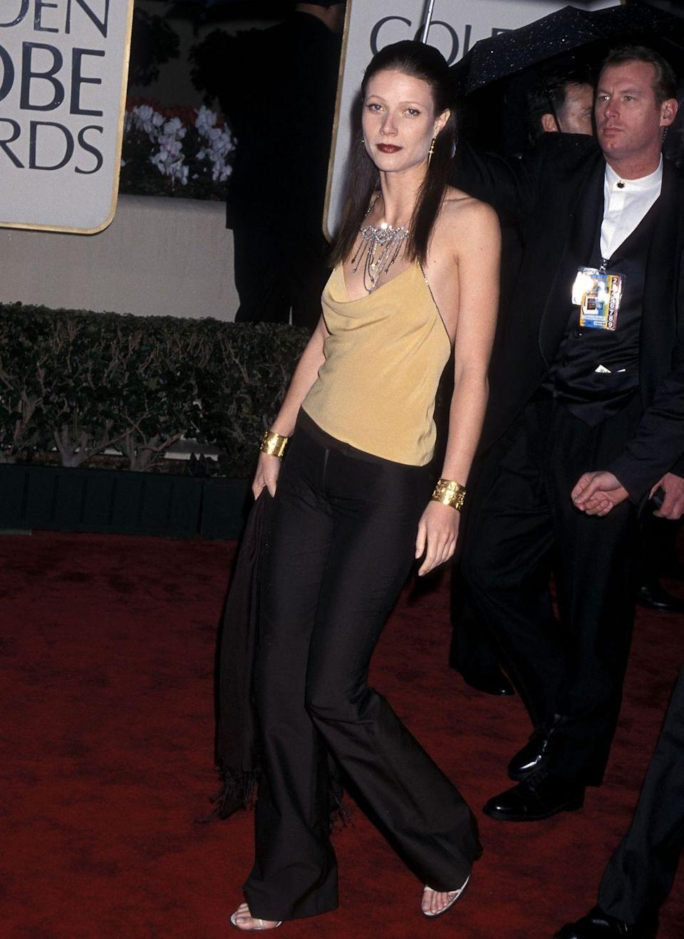 <p>The actress and budding style icon missed the mark in 2000 with a pant and halter top combination. </p>