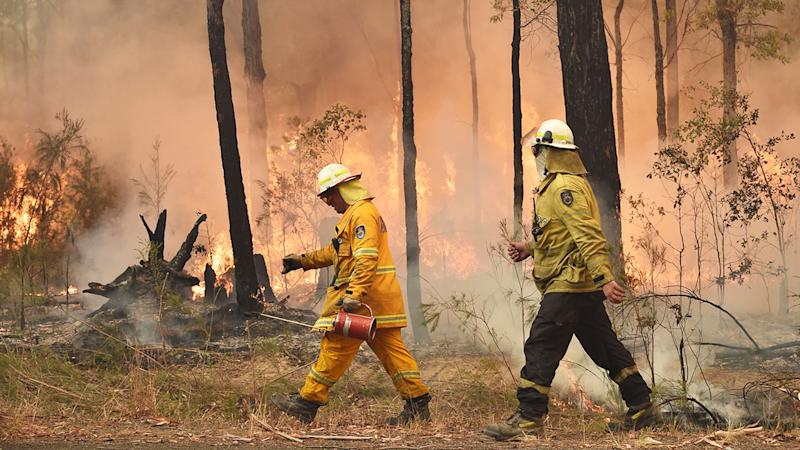Firefighters have been praised as the ultimate heroes in the bushfire crisis.