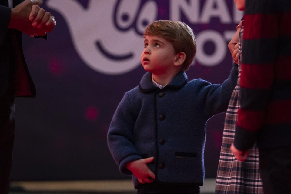 <p>Prince Louis at an event to thank key workers in London in December 2020. (Aaron Chown - WPA Pool/Getty Images)</p>
