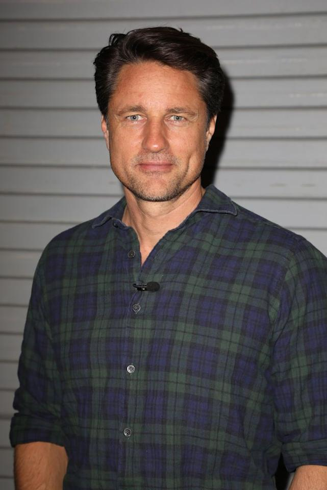 """<p>New Zealander Henderson stars as Marine-turned-bar owner Jack Sheridan who battles PTSD while trying to win Mel's heart. Things get complicated when he finds out his ex-girlfriend Charmaine is pregnant. Before his <em>Virgin River</em> days, Henderson appeared on <em>Grey's Anatomy</em> as Dr. Nathan Riggs. Eagle-eyed Britney Spears fans might even recognize him from the video for her 2004 hit """"Toxic.""""</p>"""