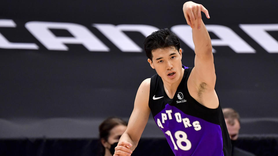 Yuta Watanabe opened up about his basketball journey in The Players' Tribune. (Photo by Douglas P. DeFelice/Getty Images)