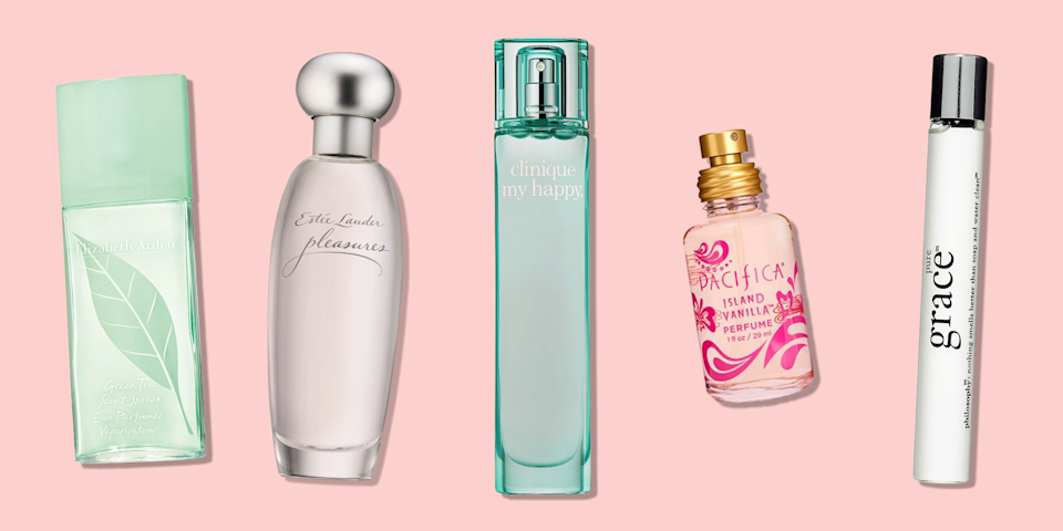 """<p>A <a href=""""https://www.goodhousekeeping.com/beauty-products/g28185044/best-perfume-for-women/"""" rel=""""nofollow noopener"""" target=""""_blank"""" data-ylk=""""slk:good perfume"""" class=""""link rapid-noclick-resp"""">good perfume</a> can boost your mood and confidence by tenfold, but often we'll find that quality signature scents are costly. However, affordable perfumes can be just as long lasting as more expensive ones, according to Gabriela Chelariu, senior perfumer at <a href=""""https://www.firmenich.com/en_INT/index.html"""" rel=""""nofollow noopener"""" target=""""_blank"""" data-ylk=""""slk:Firmenich"""" class=""""link rapid-noclick-resp"""">Firmenich</a>, a Swiss fragrance and flavor company.</p><p>""""The construction of the fragrance is the key to a long-lasting fragrance,"""" Chelariu says. She explains that the way the ingredients are mixed and the quality of ingredients used all relates to scent longevity, and some cheap perfumes accomplish this. To get the most of your inexpensive perfume, the following tips might help:</p><ul><li><strong>Know how to apply it: </strong>Rollerball perfume can last longer on the skin, but sprays can show great longevity when sprayed directly on clothing. </li><li><strong>Pay attention to sizing:</strong> Start small with a new fragrance. """"I like purchasing minis or rollerballs as an inexpensive pick when I am trying to find a new fragrance,"""" says <a href=""""https://www.goodhousekeeping.com/author/12466/danusia-wnek/"""" rel=""""nofollow noopener"""" target=""""_blank"""" data-ylk=""""slk:Danusia Wnek"""" class=""""link rapid-noclick-resp"""">Danusia Wnek</a>, chemist at the <a href=""""https://www.goodhousekeeping.com/institute/about-the-institute/a19748212/good-housekeeping-institute-product-reviews/"""" rel=""""nofollow noopener"""" target=""""_blank"""" data-ylk=""""slk:Good Housekeeping Institute"""" class=""""link rapid-noclick-resp"""">Good Housekeeping Institute</a> Beauty Lab. </li><li><strong>Layering is key:</strong> Pairing a perfume with a complementary <a href=""""https://www.goodhousekeeping.com/beauty/anti-aging/g2907565"""