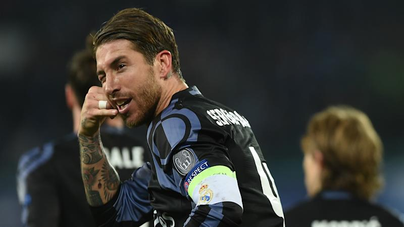 Sergio Ramos Napoli Real Madrid Champions League