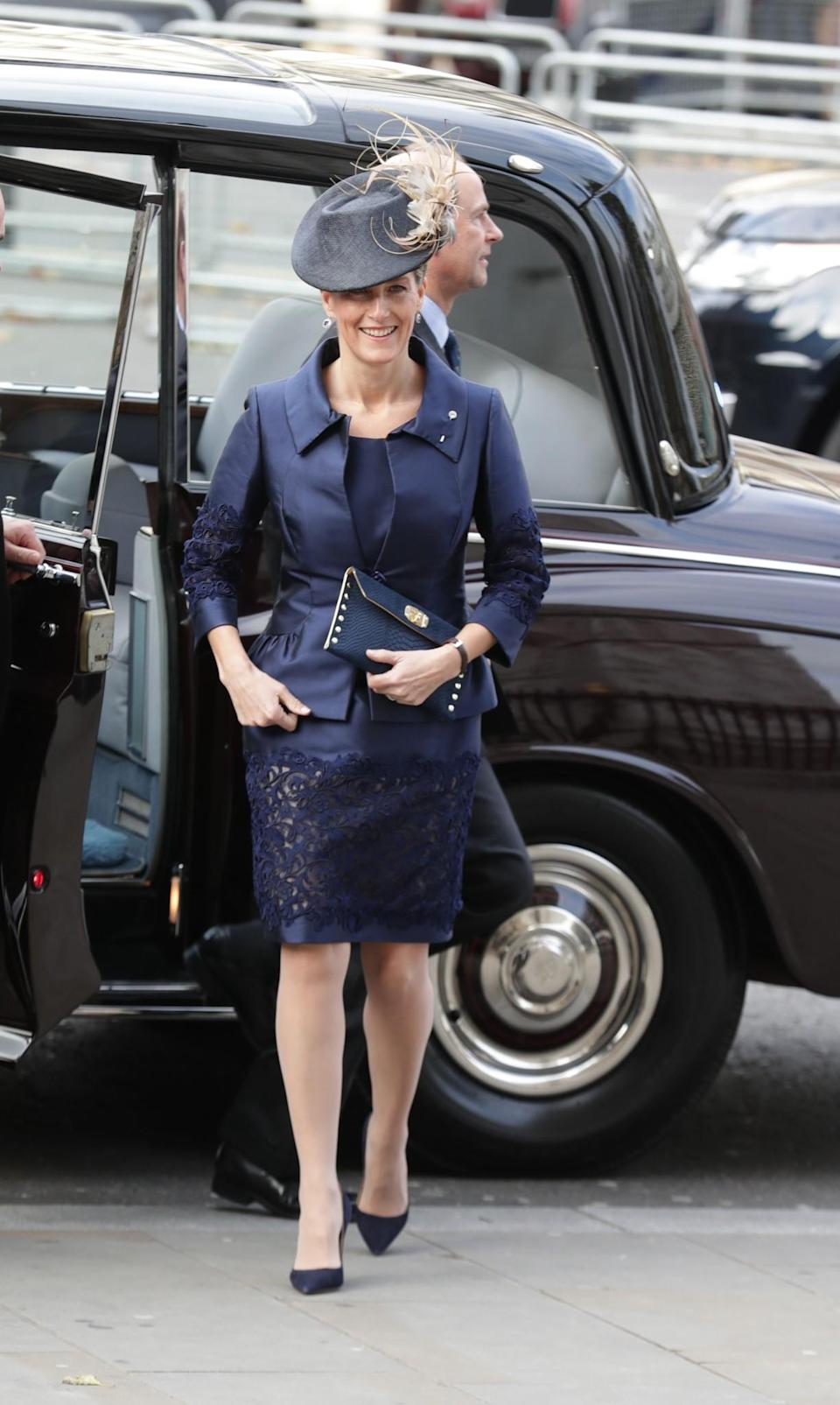 <p>Looking smart in head-to-toe blue [Photo: PA] </p>