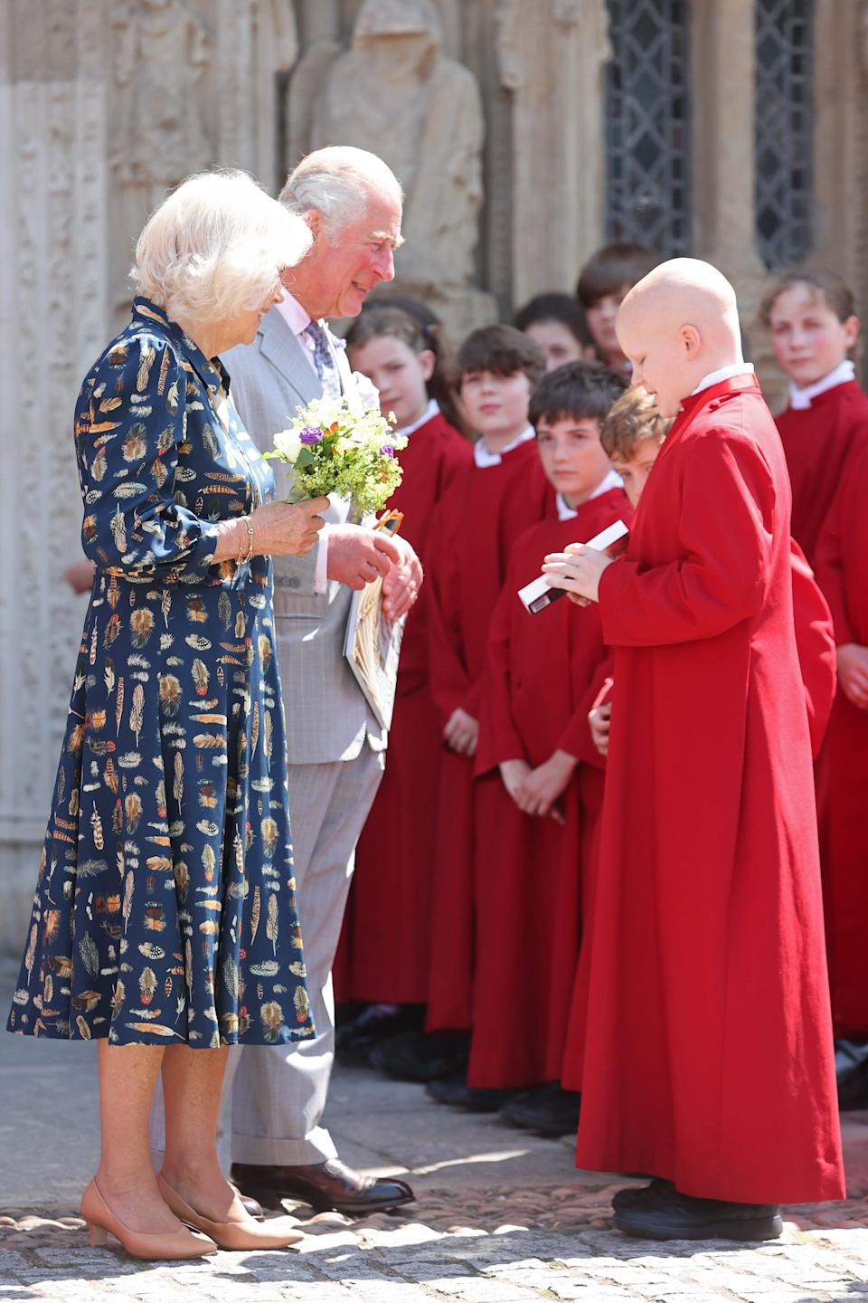 The Prince of Wales and Duchess of Cornwall went mask-free during their visit (Chris Jackson/PA) (PA Wire)
