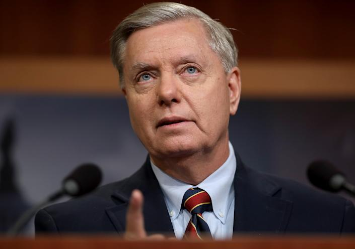 Arizona's secretary of state has denied Lindsey Graham's claim he spoke to her as the row over voter fraud intensified (Getty Images)