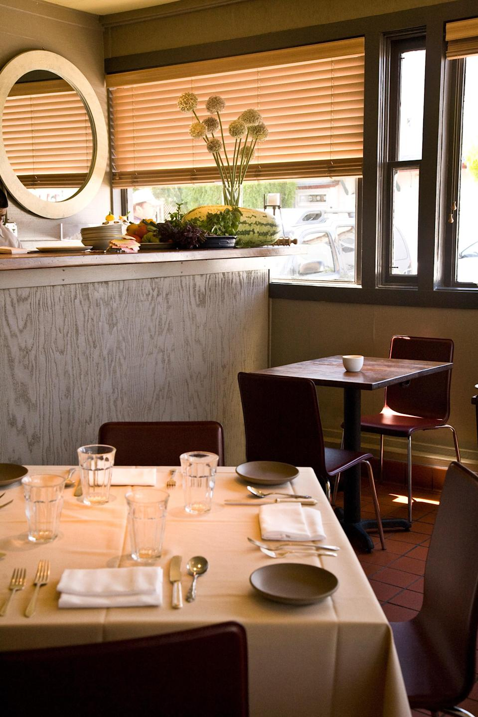 "<p><strong>Give us a quick synopsis.</strong><br> This casual Italian joint is also home to one of the best bars in Pt. Reyes. Pull up a seat, make yourself comfortable, and chat up the locals in this bright modern bistro.</p> <p><strong>What was the crowd like?</strong><br> Osteria Stellina has a balanced ecosystem of locals and visitors. Oyster farmers mingle with innkeepers, and tourists chat up the neighboring cheesemonger. It makes for an unexpectedly pleasant evening. Dress in nice-casual.</p> <p><strong>What should we be drinking?</strong><br> Osteria Stellina stocks a rotating list of local craft beers and boutique wines from Northern California. Some gems are from <a href=""https://www.cntraveler.com/stories/2015-08-04/marin-county-more-than-napa-opening-act?mbid=synd_yahoo_rss"" rel=""nofollow noopener"" target=""_blank"" data-ylk=""slk:Marin County"" class=""link rapid-noclick-resp"">Marin County</a>—not neighboring Napa or Sonoma, as you might expect. They include Sean Thackery's wines from Bolinas and local Pey-Marin riesling.</p> <p><strong>Main event: the food. Give us the lowdown—especially what not to miss.</strong><br> Chef Christian Caiazzo's Marin-centric dishes pair perfectly with the local wines and beers. Pick out something from the main menu and order it to the bar: local oysters ($18) are a must, as are the Pt. Reyes cheese plate ($15) and the steamed mussels with pancetta ($16).</p> <p><strong>And how did the front-of-house folks treat you?</strong><br> The staff seems straight out of Tuscany, but their encyclopedic knowledge of Pt. Reyes proves otherwise.</p> <p><strong>What's the real-real on why we're coming here?</strong><br> Osteria Stellina is perfect for a nice evening out, after a day spent hiking, kayaking, or driving the curvy coastal roads.</p>"