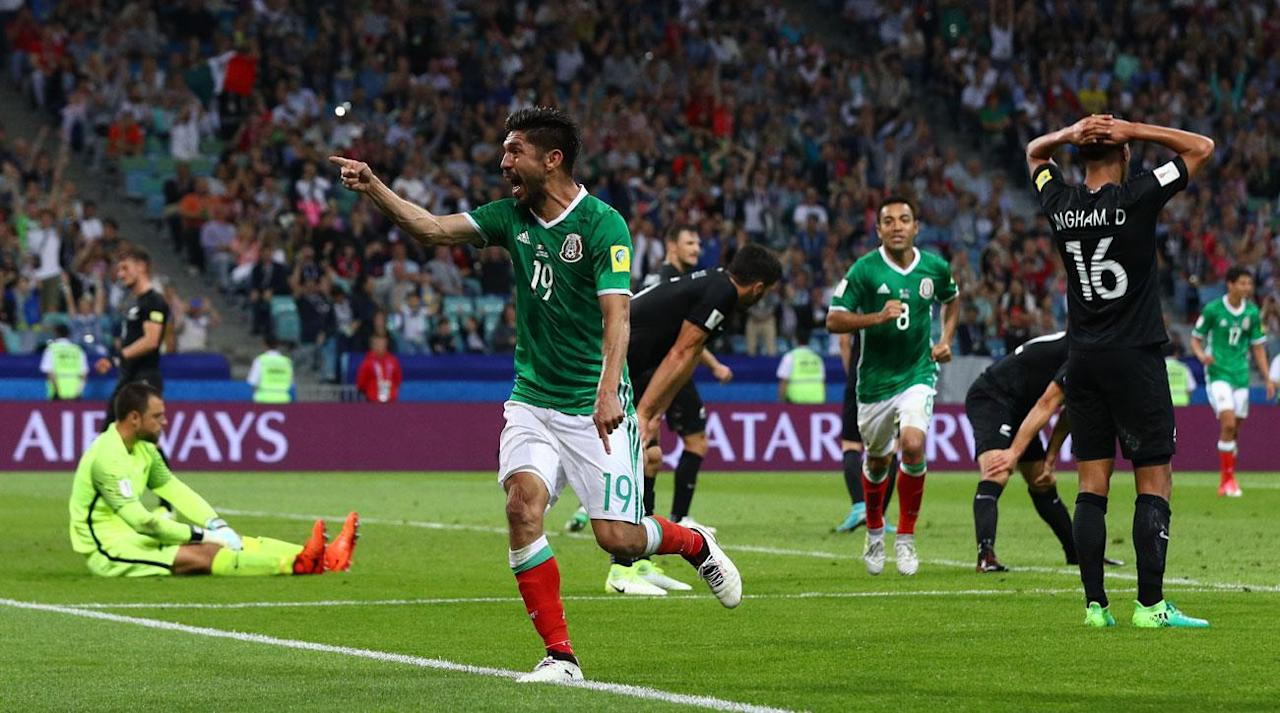 "<p>Mexico had a surprisingly difficult time, but secured three big points and a giant step toward the Confederations Cup knockout stage with <a rel=""nofollow"" href=""https://www.si.com/planet-futbol/2017/06/21/mexico-new-zealand-confederations-cup-goals-video-chicharito-vela-dos-santos"">a 2-1 victory over New Zealand</a> in Sochi, Russia on Wednesday.</p><p>A vastly changed El Tri lineup featured eight changes, and New Zealand took advantage of some sloppy, disjointed play to take the lead through Chris Wood just before halftime.</p><p>Raul Jimenez and Oribe Peralta scored the equalizing and go-ahead goals, respectively, in the second half, and winger Javier Aquino was an all-around standout for Mexico, which will go through to the knockout stage with a win or draw against host Russia in Saturday's group finale–for which Mexico will have plenty of fresh, first-choice legs. </p><p>Here are three thoughts on the match:</p><p><strong>Osorio's rotation risk, ultimately, pays off</strong></p><p>Juan Carlos Osorio made eight changes to his starting lineup, and it was a risk against an inferior opponent that was ultimately rewarded, but not without some serious tension. Only Raul Jimenez, Carlos Salcedo and Diego Reyes have started both matches in Russia, and Osorio, as he tends to do, has plenty questioning his methods.</p><p>On one hand, it's nice to have that much depth to feel confident turning to in a tournament setting. On the other, it disrupts continuity, places added responsibility and accountability on more players and, in some cases, puts players in less comfortable positions on the field. Javier ""Chicharito"" Hernandez, one of the eight starters against Portugal who sat against New Zealand, claimed Mexico's players have embraced his philosophy <a rel=""nofollow"" href=""https://www.si.com/planet-futbol/2017/06/10/mexico-juan-carlos-osorio-chicharito-javier-hernandez-el-tri"">in an extensive interview with SI.com's Grant Wahl</a>, and it appears that it was just enough to get Mexico to the three points on Wednesday. </p><p>It's not as if Mexico was hit with a rash of yellow cards in the opener and Osorio was guarding against suspensions. Only Andres Guardado was cautioned in the 2-2 draw. And when Salcedo went down injured in the first half and Osorio had to burn a sub, it limited what he was able to do in the second half. He brought Hector Herrera on at halftime to settle his central midfield–but then had to take off Salcedo's replacement, Hector Moreno, in the second half, bringing on the ageless Rafa Marquez (who, yes, was part of Mexico's 1999 Confederations Cup-winning team).</p><p>Fortunately for Osorio, Aquino was sensational on the left wing, Jimenez turned in a fantastic equalizer and Peralta continued to haunt New Zealand, adding to the four goals he scored in the intercontinental playoff between the two nations for a place in the 2014 World Cup.</p><p>Osorio and Mexico earned all three points, but they came the hard way, and El Tri's defensive lapses, on which New Zealand wasn't fully able to capitalize, will be punished by a more clinical team (say, oh, I don't know, <a rel=""nofollow"" href=""https://www.si.com/planet-futbol/2016/06/19/chile-mexico-copa-america-eduardo-vargas-puch-alexis-vidal-osorio"">Chile</a>?) in the same instances down the line in the competition. Mexico is in good shape to go through, but it should also be on notice that it has to be much better to contend for the trophy.</p><p>Hiccups in the implementation of VAR </p><p>Osorio isn't the only one experimenting at the Confederations Cup.</p><p>FIFA's introduction of Video Assistant Referees to official competition has <a rel=""nofollow"" href=""https://www.si.com/planet-futbol/2017/06/19/confederations-cup-var-video-assistant-referee-replay-fifa"">drawn the ire, confusion and consternation of many</a>. In theory, it's great. Make sure the correct calls are made in the instances of goals, penalty kicks and red cards. Some of the early uses of VAR have been, in one writer's opinion, unfairly criticized. They ultimately got calls right and didn't really interfere with the match. Sure, they may have nullified or interrupted goal celebrations. But if the ultimate goal is getting calls correct, it succeeded. </p><p>That being said, Wednesday's use in the dying moments was a bit outrageous. It started when Herrera and Ryan Thomas got into it after Michael Boxall's jersey was yanked from behind. Both teams entered a slappers-only confrontation and referee Bakary Gassama went to the video tape to see about any retroactive cards. But first it went to the replay booth. Then Gassama elected to watch the tape himself. Then he took his time to issue three <em>yellow</em> cards. All in stoppage time of a game in which New Zealand trailed by one and had a chance to pull even on a free kick. The review completely disrupted the rhythm of the moment and shouldn't have been entirely necessary. Much like instant replay has done for referees in the NFL, VAR will allow for referees to call matches in a different way, knowing the video evidence is available as a back-up plan. In many instances, VAR is and will be a good thing for the sport. This was not one of them.</p><p>Howard Webb recently discussed the implementation of VAR and its benefits with the Planet Fútbol Podcast, but it hasn't been an entirely smooth process.</p><p>Props to the Mexican federation</p><p><em>THAT</em> chant at the opposing goalkeeper, which continues to draw warnings, fines and controversy, remains at the forefront of every Mexico national team game, but the Mexican federation made another aggressive plea on the eve of the match for fans to let it go.</p><p>While many–<a rel=""nofollow"" href=""https://www.si.com/planet-futbol/2017/06/20/mexico-fan-chant-fifa-confederations-cup-osorio"">including Osorio–maintain that the meaning of said word is lost in translation</a> and does not represent what most perceive it to and that it is not an offensive or anti-gay sentiment, it's quite clear that it should have no place in the game, and Mexico's federation is putting clout behind kicking it out.</p><p>Fans in Sochi took heed of Mexico's plea and acted accordingly. They applauded during New Zealand kicks, they remained silent and they chanted ""Mexico!"" instead in a refreshing deviation from the norm. The infamous ""P word"" was nowhere to be heard. (The ""MF"" word, however, was there for all to hear and see after <a rel=""nofollow"" href=""https://twitter.com/si_soccer/status/877602218630942720"">Osorio unleashed a tantrum on New Zealand manager Anthony Hudson</a> following a controversial moment in the first half.)</p><p>It's one game, thousands of miles from Mexico, and there's no guarantee that fans will universally accept abolishing the chant from Mexico games. Wednesday was a step in the right direction, though, and it's a testament to the commitment of Mexico's federation and El Tri fans on site for carrying out the change. </p>"