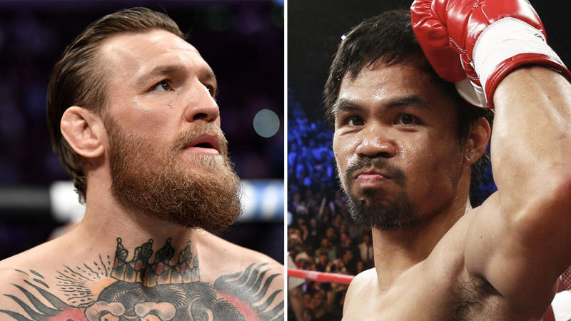 Conor McGregor (pictured left) and Manny Pacquiao (pictured right). (Getty Images)